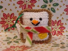 Frostee The Toastee Plush Crochet Ornament by plushteam on Etsy, $8.00