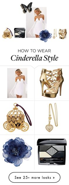 """HoCo Cinderella"" by the-obsessive-cupcake on Polyvore featuring GUESS, Accessorize and Christian Dior"
