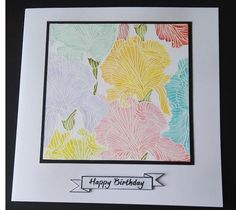 MFT Etched Flower Background Stamp