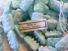A personal favorite from my Etsy shop https://www.etsy.com/listing/241384068/aqua-bumpy-vintage-glass-beads-made-in