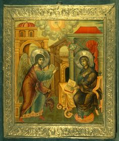 Annunciation · The Sinai Icon Collection Constantine The Great, Ottoman Turks, Byzantine Art, Orthodox Christianity, Icon Collection, Orthodox Icons, Roman Empire, Middle Ages, Images
