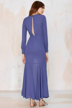 Nasty Gal Dramarama High/Low Dress - Blue - Dresses