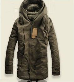 233e203f37 Details about New Mens Military Trench Coat Hooded Parka Thick Cotton  Outwear Jackets US M-5XL