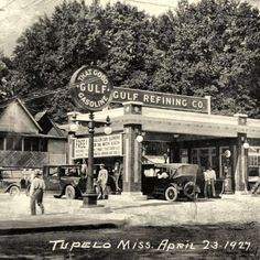 Grand Opening Gulf Gas Station 1927 Tupelo, MS