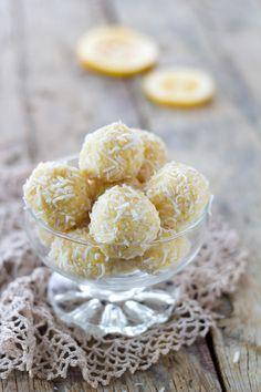 Lemon & Coconut Truffles