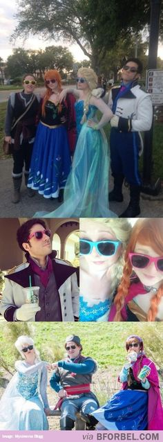 Just Frozen Cosplay… No Biggie…..one reason I wish I was white skinned ha