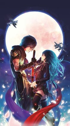 Girl illustration art Anime couple