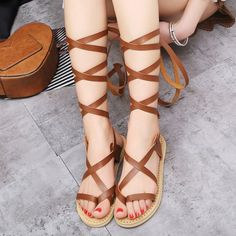 GET $50 NOW   Join RoseGal: Get YOUR $50 NOW!http://www.rosegal.com/sandals/strappy-lace-up-sandals-1114289.html?seid=4514413rg1114289