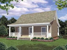 30 x 36   800 sq. ft. front and back screened in porch 2 bdrm. This is the outside of the house. Will have roof straight and tin ~!~