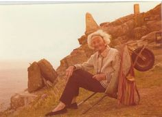 """""""we love this picture of Rowena Cade, our founder in her trusty wheelbarrow, taken Cornwall England, Great Britain, Famous People, Folk, Old Things, Ireland, Pictures, Places, Travel"""