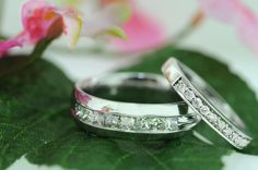 Say your i Do's with these couple wedding bands by Adams Jewelry. #iDo #Wedding #Weddingbands #nature #Love #Couples #together #forever #AdamsJewelry