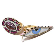 19 Holiday Gifts for the Gallerina - Holly Dyment gold, sapphire, ruby, and diamond lip ring
