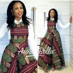 African dress / African print flare leg dungaree / African dungaree / African jumpsuit / African clothing / African print dress for women African Dresses For Women, African Print Dresses, African Attire, African Wear, African Fashion Dresses, African Women, African Prints, African Style, African American Fashion