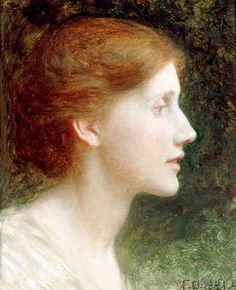 Sir Frank Dicksee - Portrait of Agnes Mallam (Mrs Edward Foster                                                                                                                                                                                 Más