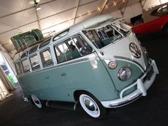Someday, I'd love to drive a VW bus.  Wonder how many car seats I could fit in there?