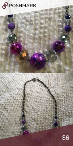 Shop Women's Purple Silver size Necklaces at a discounted price at Poshmark. Purple and silver. Paracord Bracelets, Beaded Bracelets, Silver Jewelry, Jewelry Necklaces, Jewellery, Diy Necklace Making, Homemade Necklaces, Handmade Jewelry, Purple