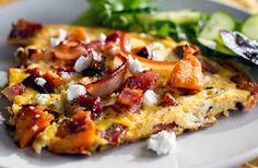 Roasted Sweet Potato & Bacon Omelette | Eat Drink Paleo