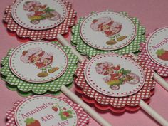 Strawberry Shortcake Vintage Personalized by serenaspartyboutique, $10.00