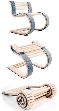 We love: The Mieroslo Chair by Uros Vitas - chairs stühle sitze sillas asientos - Chair Design Unique Furniture, Diy Furniture, Furniture Design, Folding Furniture, Folding Chairs, Foldable Chairs, Hardwood Furniture, Inexpensive Furniture, Furniture Websites