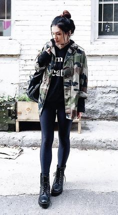 Trendy outfits ideas featuring camouflage apparel