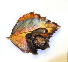 """Купить Брошь """"Майский"""" - комбинированный, радужный, разноцветный, коричневый…"""