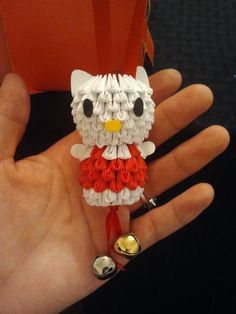 Mini-Hello Kitty Origami Ornament!