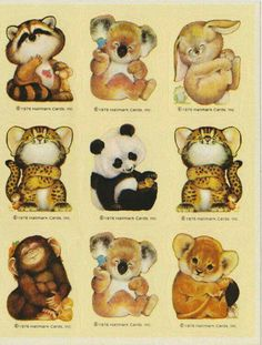 Critter Stickers from the 80's by Hallmark -- Sticker collector, that was me!