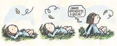donde aprendiste a bailar... Liniers, seudónimo de Ricardo Siri (Buenos Aires, 15 de noviembre de 1973), es un historietista argentino conocido por ser el autor de Macanudo. #Humor