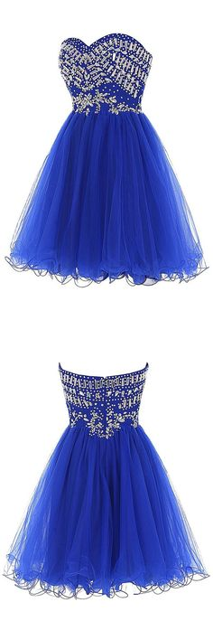 2016 homecoming dress,homecoming dress for teens,short homecoming dress,royal blue homecoming dress,sparkling homecoming dress,tulle homecoming dress,back to school dress,teen fashion