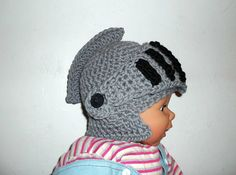 Knight Helmet CROCHET PATTERN  Moveable Visor  by PatternStudio1, $2.99