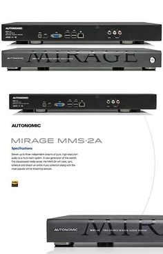 controls and touchscreens autonomic mirage mms2a media server buy it now only