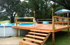 Less Expensive Idea above ground w/deck