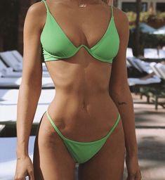 2020 Women Swimsuits Bikini Extra Long One Piece Swimsuit Bikini Shop Online The Best One Piece Bathing Suits 1 Piece Swimming Costume Cute Swimsuits, Women Swimsuits, Swimsuits 2017, Mode Hipster, Brasilianischer Bikini, Sporty Bikini, Green Bikini, Daily Bikini, Black Bikini