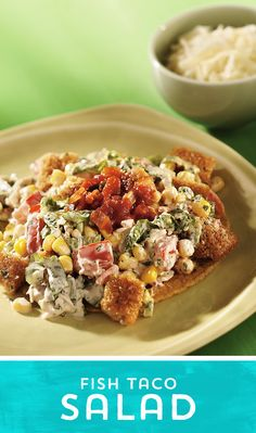 Need something light, fresh and fast? Try this Fish Taco Salad! It ...