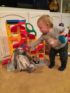Taylor feeding her bunny