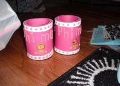 big and little koozies Alpha Omicron Pi, Zeta Tau Alpha, Lion Craft, Sister Crafts, Crafty Craft, Crafting, Sorority Crafts, Phi Mu, Greek Life