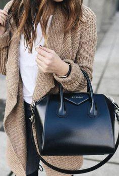 Givenchy Antigona - Best Designer Work Bags - Women's style: Patterns of sustainability Luxury Bags, Luxury Handbags, Fashion Handbags, Fashion Bags, Fashion Accessories, Womens Fashion, Luxury Purses, Designer Handbags, Workwear Fashion
