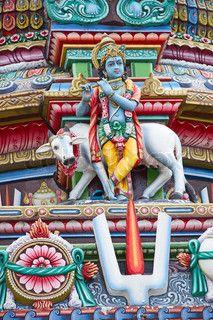 Bal Krishna image on temple