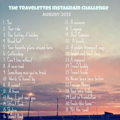 instagram challenge | instagram challenge august 2013 600x600 The Travelettes Instagram ...