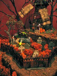 Halloween Village Display / Dept 56. Halloween Display