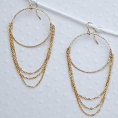 Sonjarenee Jolie Gold Filled Hoop Earrings