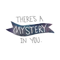 truth :: MYSTERY IN YOU watercolor print by BrownBearStudio
