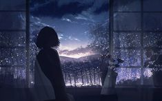 Pixiv Id 33558705 Image - Zerochan Anime Image Board Anime Scenery Wallpaper, Dark Wallpaper, Wallpaper Backgrounds, Anime Girl Cute, Anime Art Girl, Sky Aesthetic, Aesthetic Anime, Animes Wallpapers, Cute Wallpapers