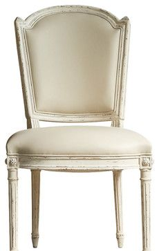 Flins Dining Room Chair in Buttermilk Yellow - traditional - Dining Chairs - Maison de Kristine