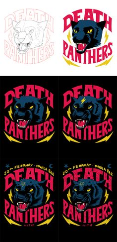 Death Panthers EP Launch Poster on Behance