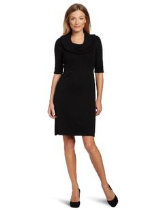 Amazon.com: Evan Picone Women's Drop Shoulder Cowl Neck Dress: Clothing