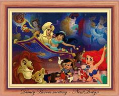 Disney Heroes meeting  cross stitch pattern  PDF pattern