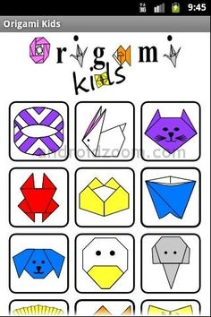 Downloadable instructions for origami for kids