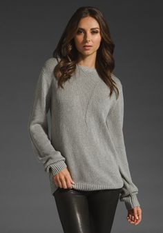T by Alexander Wang Silk Cotton Crew Neck Pullover - the beauty of a well made neutral
