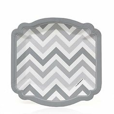Chevron Gray - Dessert Plates count) The chevron gray pattern featured on these uniquely shaped paper plates will add some fun to cake time at your party.  sc 1 st  Pinterest : black and white chevron paper plates - pezcame.com